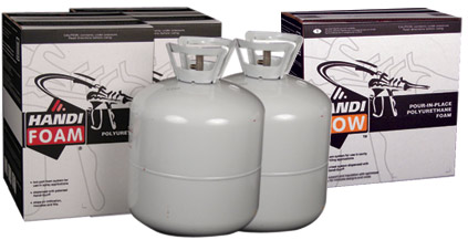 Handi Foam Polyurethane Spray Insulation Kits Self Contained Recyclable Easy To Use